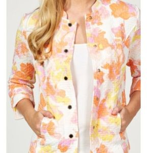 Isaac Mizrahi Live! Watercolour Floral Jacket 3X
